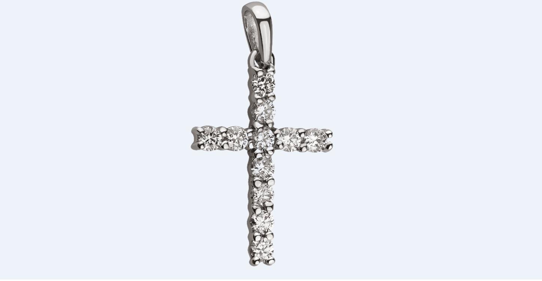 Крестик с бриллиантами (коллекция ЮК)